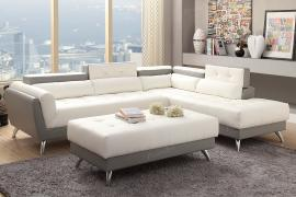 Alton F6979 Dual color White and Grey Modern Sectional