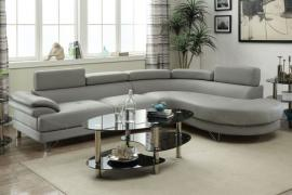 Ivins F6984 Curved Grey Modern Sectional