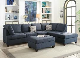 Neptune F6989 Dark Blue Modern Sectional