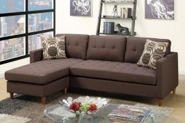Rolando F7086 Chocolate Tufted Sectional