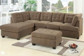 Paige F7140 Truffle Waffle Suede Reversible Sectional