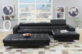 Aladdin F7363 Black Sectional with Horizontal and Vertical Tufting
