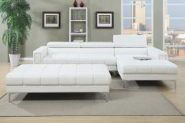 Karlie F7364 White Modern Adjustable Headrest Sectional