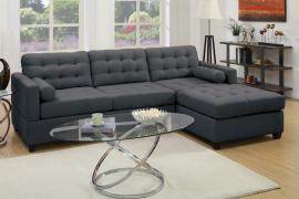 Bobkona F7587 Slate Black Reversible Sectional