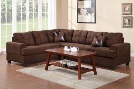 Jenner F7627 Plush Chocolate Microfiber Sectional