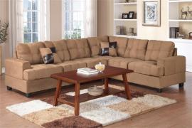 Lodi F7628 Plush Saddle Microfiber Sectional