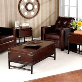 GP0021 Voyager By Southern Enterprises Trunk Table Collection Set of 3