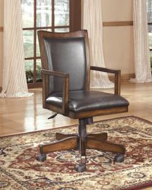Ashley H527-01A Hamlyn Home Office Swivel Desk Chair in Medium Brown