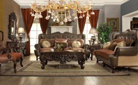 Homey Design HD-47 Victorian Sofa & Loveseat Set