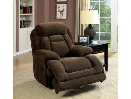 Brown Fabric Power Recliner