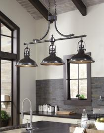 L000508 Joella by Ashley Metal Pendant Light in Bronze Finish
