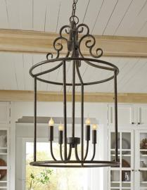 L000518 Jarah by Ashley Metal Pendant Light in Antique Bronze Finish