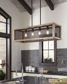 L000588 Jodene by Ashley Wood Pendant Light In Brown/Black