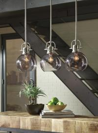 L000618 Johano by Ashley Glass Pendant Light In Gray