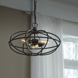 L000708 Kenturah by Ashley Metal Pendant Light In Gray