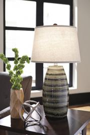 L100514 Darlon by Ashley Glass Pendant Light in Brown