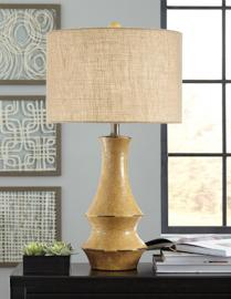 L100574 Jenci by Ashley Ceramic Table Lamp In Antique Yellow