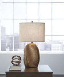 L100614 Lewelyn by Ashley Ceramic Table Lamp Set of 2 In Copper Finish
