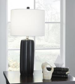 L177934 Adorlee by Ashley Ceramic Table Lamp Set of 2 In Black