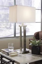 L204054 Aniela by Ashley Metal Table Lamp In Silver Finish