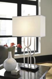 L207014 Darielle Aniela by Ashley Metal Table Lamp In Silver Finish