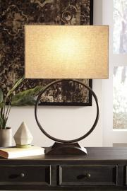 L207074 Fayth by Ashley Metal Table Lamp In Bronze Finish