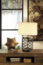 L207094 Aryan by Ashley Metal Table Lamp In Black