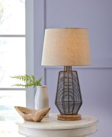 L207114 Artie by Ashley Metal Table Lamp In Natural