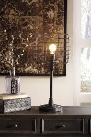 L207164 Javan by Ashley Metal Table Lamp In Antique Black