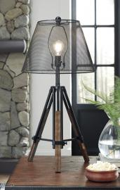 L207994 Leolyn by Ashley Metal Table Lamp In Black/Brown