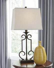 L208034 Ainslie by Ashley Metal Table Lamp In Bronze