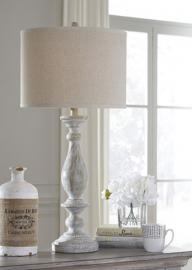 L235344 Bernadate by Ashley Poly Table Lamp Set of 2 In Whitewash