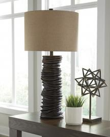 L235504 Turbotic by Ashley Poly Table Lamp In Brown