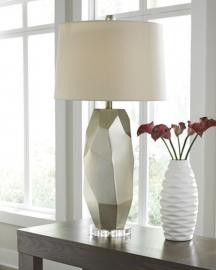 L235514 Darda by Ashley Poly Table Lamp In Silver