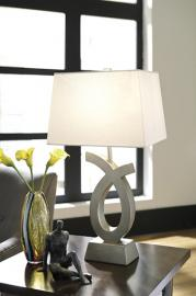 L243134 Amayeta by Ashley Poly Table Lamp Set of 2 in Silver Finish