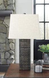 L327214 Mahak by Ashley Wood Table Lamp Set of 2 in Black