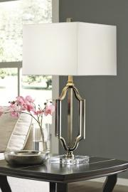 L428054 Arabela By Ashley Metal Table Lamp in Antique Brass Finish
