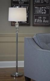 L428081 Joaquin By Ashley Crystal Floor Lamp in Clear/Chrome Finish