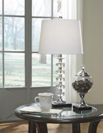 L428094 Leesa By Ashley Crystal Table Lamp Set of 2 in Clear