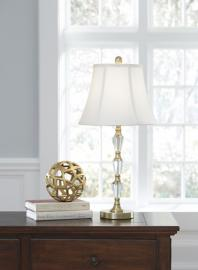 L428104 Madra By Ashley Crystal Table Lamp  Set of 2 in Clear/Gold Finish