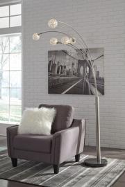 L725089 Winter By Ashley Metal Arc Lamp In Silver Finish