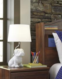 L857594 Avel By Ashley Ceramic Table Lamp In White