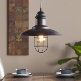 LT1808 Tesino By Southern Enterprises Industrial Cage Pendant Lamp