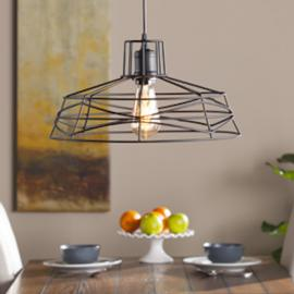 LT1812 Lambro By Southern Enterprises Wire Cage Pendant Lamp