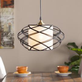 LT1813 Alento By Southern Enterprises Wire Cage Pendant Lamp