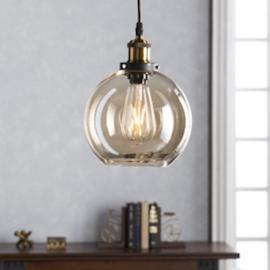 LT1840 Teka By Southern Enterprises Globe Mini Pendant Lamp