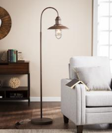 LT1852 Pinsley By Southern Enterprises Caged Bell Floor Lamp