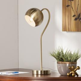 LT1908 Parklyn By Southern Enterprises Gooseneck Table/Desk Lamp - Midcentury Modern Style