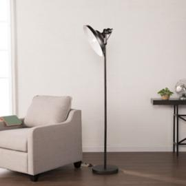 LT1920 Raylan By Southern Enterprises Metal Floor Lamp - Black