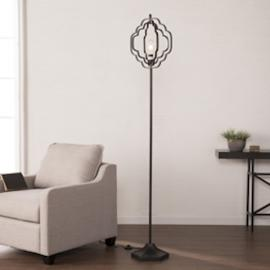 LT1923 Lysander By Southern Enterprises Geometric Floor Lamp - Black